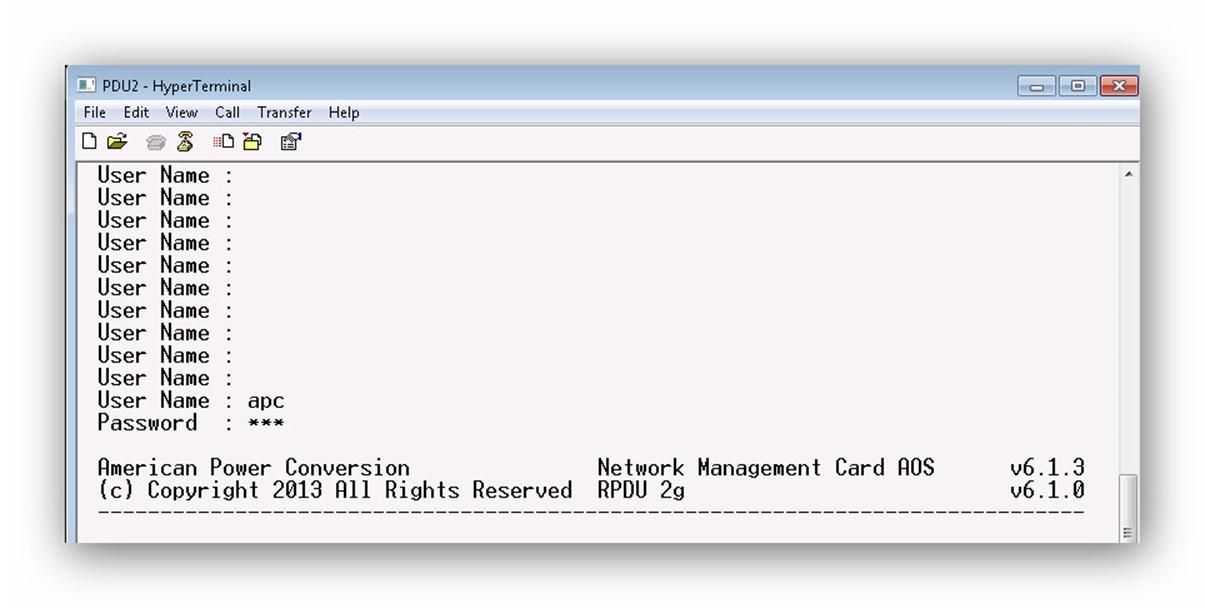 Configurar PDU APC