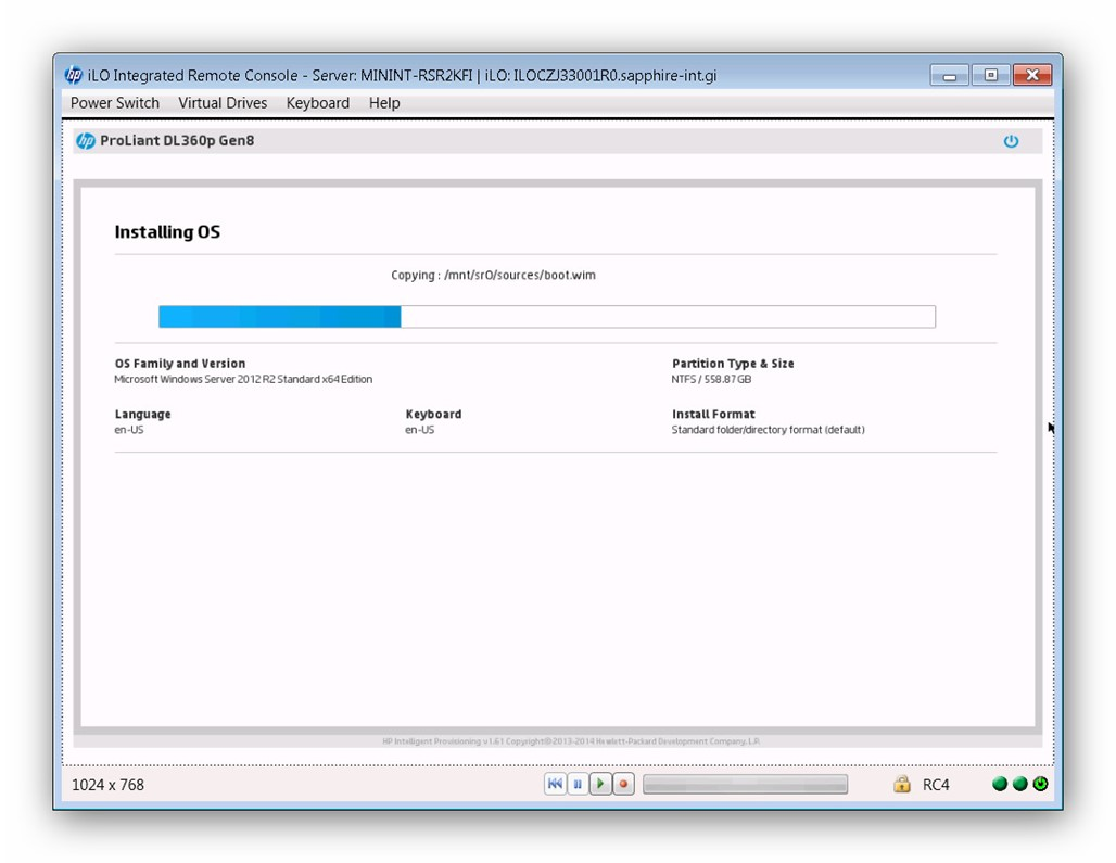Instalar Windows Server 2012 HP Proliant
