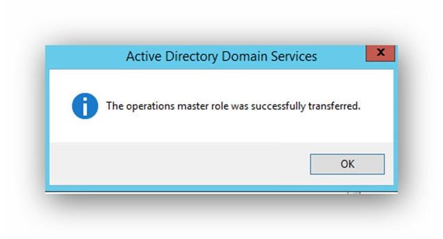 Transferir roles FSMO mediante GUI