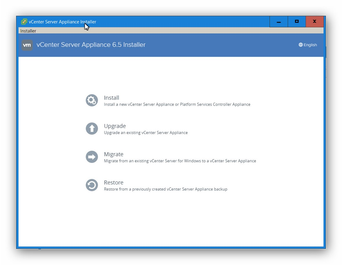 Actualizar vCenter Server appliance a 6.5