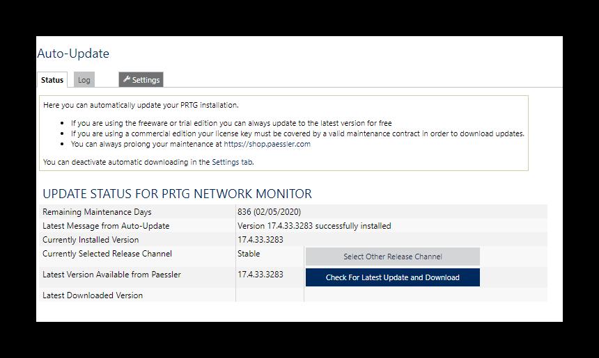 Cómo actualizar PRTG - Guia rápida - Blog de Sistemas