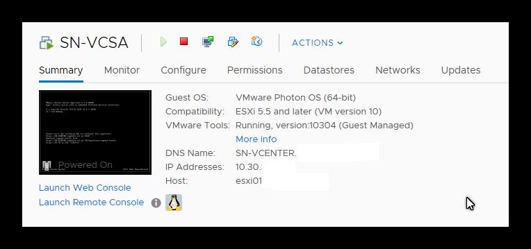 Actualizar VCSA 6.5 a 6.7