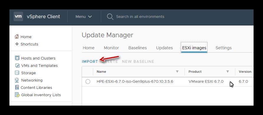 actualizar a vSphere 6.7 Update 1