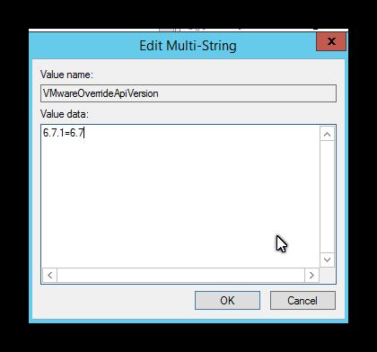 Error de Veeam con vSphere 6.7 Update 1