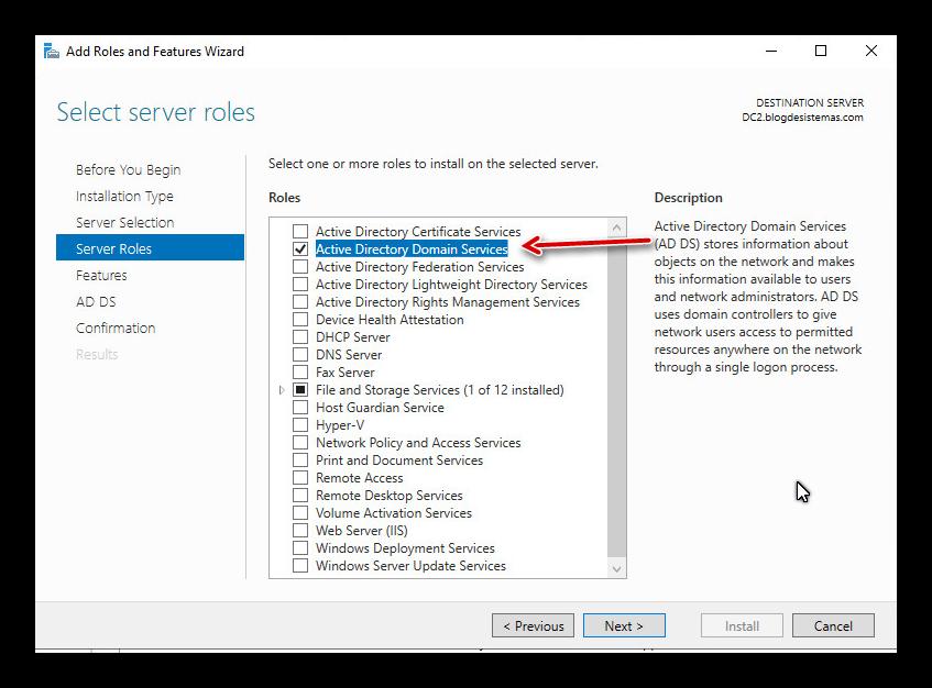 Windows Server 2016 Promocionar Controlador de Dominio