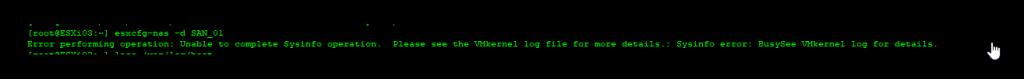 Error eliminar datastore