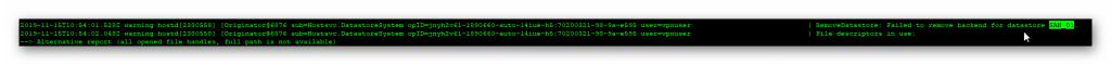 No puedo eliminar datastore en vcenter